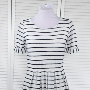 Anthropologie Navy Striped Dress